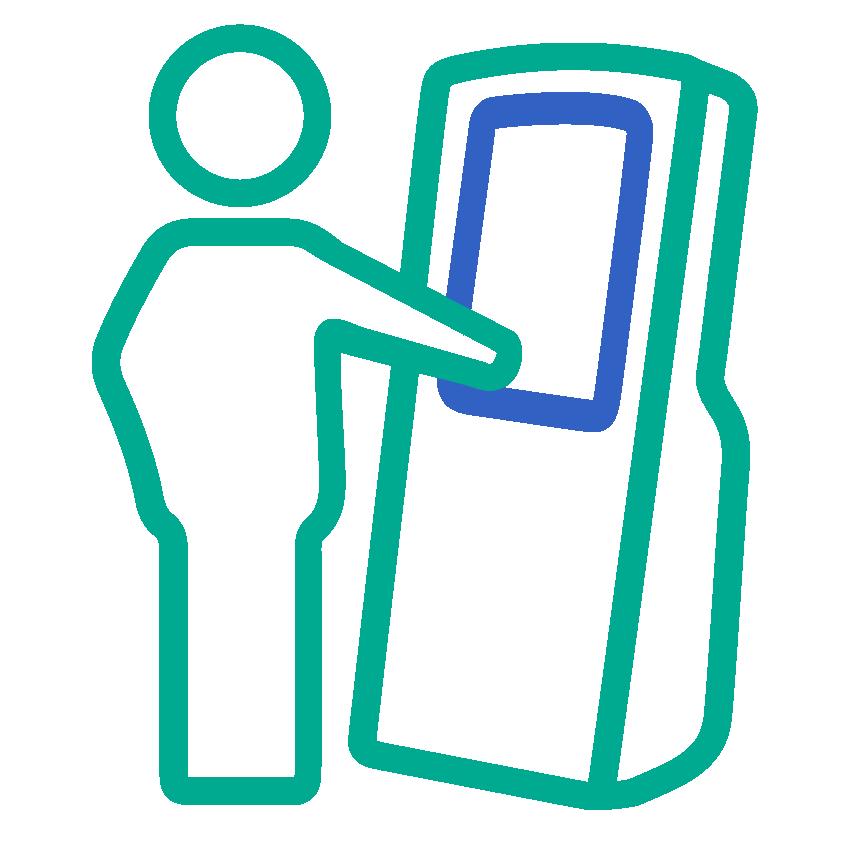 Icon ICONEN web 2 kleuren self service access